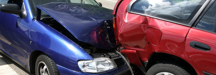 Two car bumper collision
